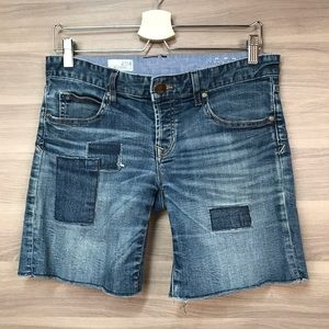Gap Boyfriend Patchwork Denim Shorts